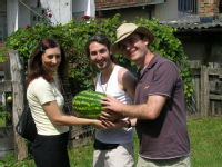 Presenting Gordana with a melon