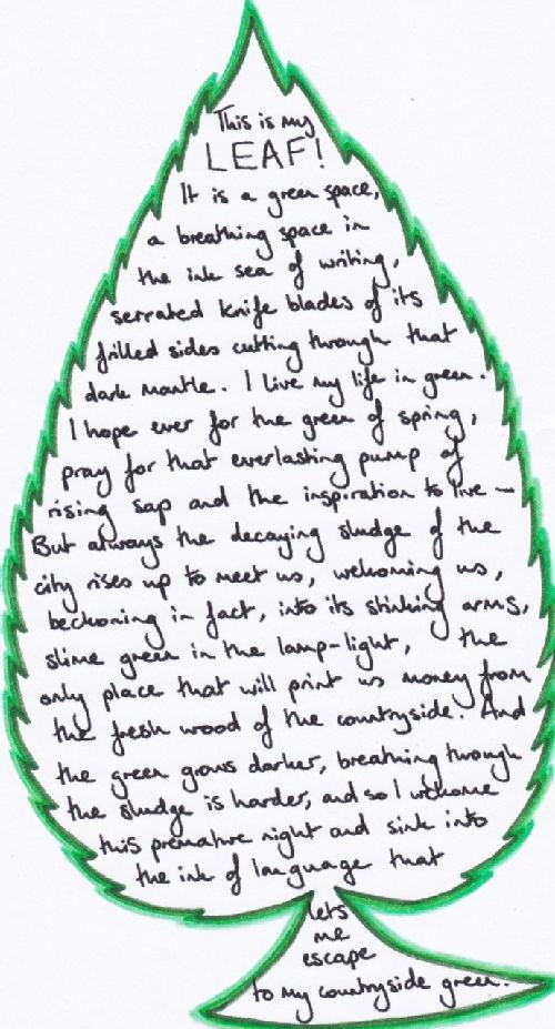 Leaf Writing