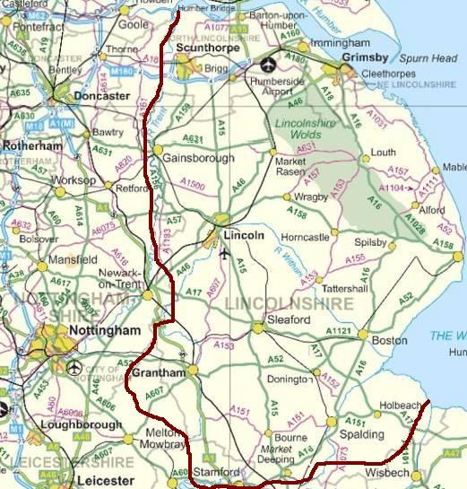 c r england locations map
