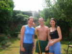 Hazel, Ben and me (having a water fight...so grown up)