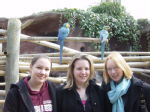 Ali, Michelle and me (and some parrots)