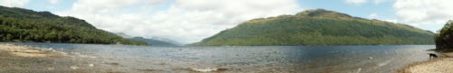 A panorama of Loch Lomond, taken from Firkin Point on the West shore