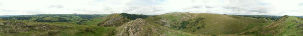360 degree panorama taken from the top of Thorpe Cloud in Dovedale