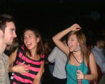Vicky Sarah and Tom dancin