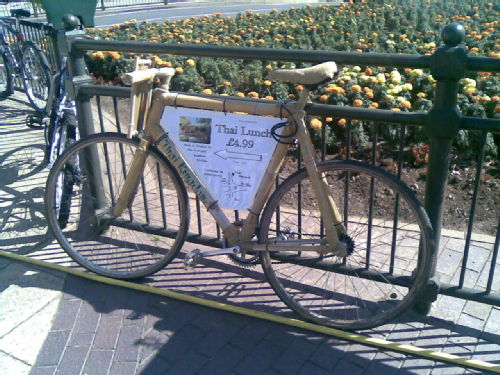 Bamboo bike (fake)