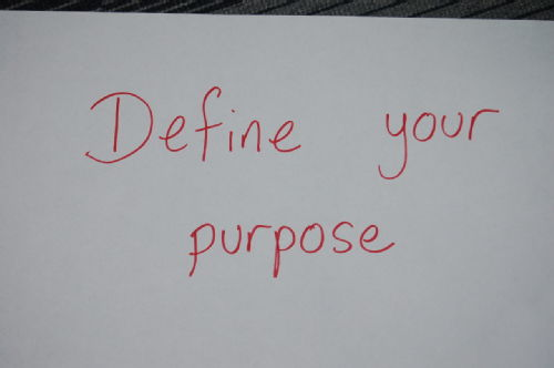 Rachel - define your purpose