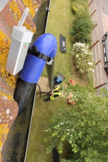 gutter cleaning aided by CCTV