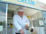 Ice Cream Man at Edinburgh castle