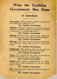 Handbill attacking Lloyd George