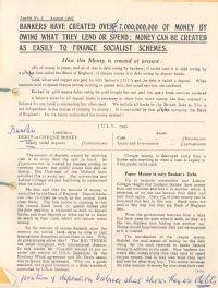 Banking handbill