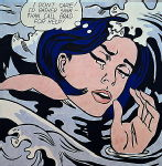 Lichenstein, Roy - Drowning Girl
