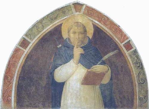 ST. PETER MARTYR ENJOINING SILENCE