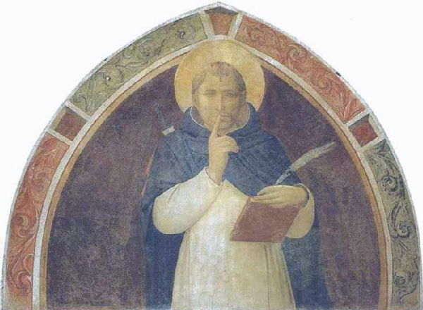 ST. PETER MARTYR ENJOINING SILENCE