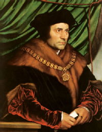 Thomas More by Hans Holbein from 1527