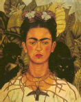 Kahlo - Self Portrait with Thorn Necklace